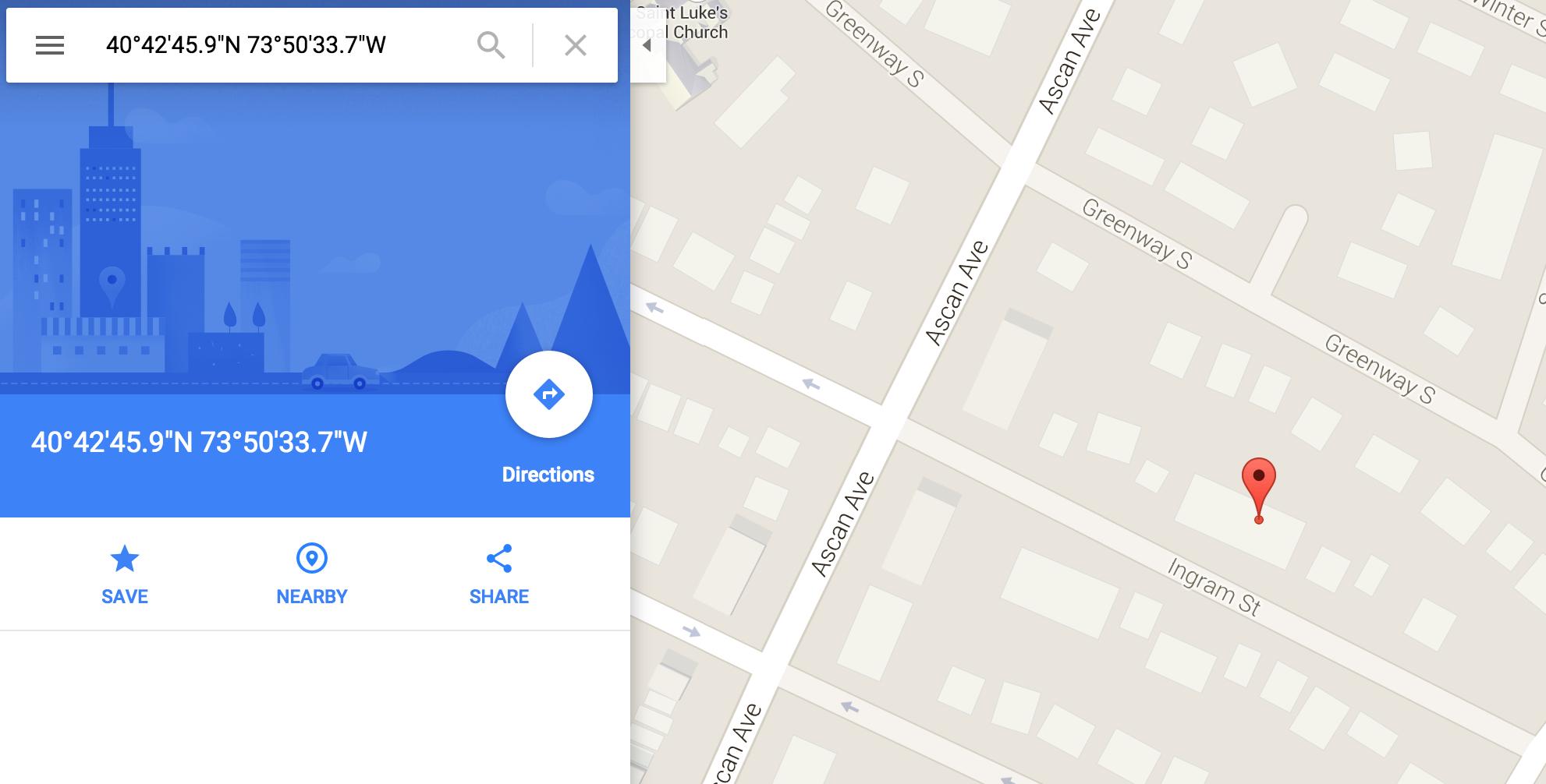 Copy the coordinates and plug them into Google.