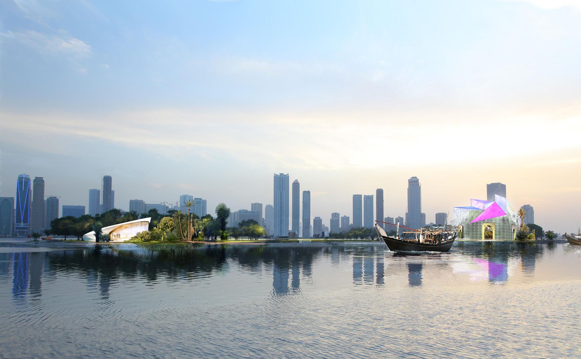 Noor island visual development concept.