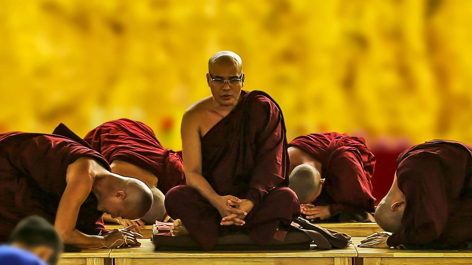 Buddhist and his disciples