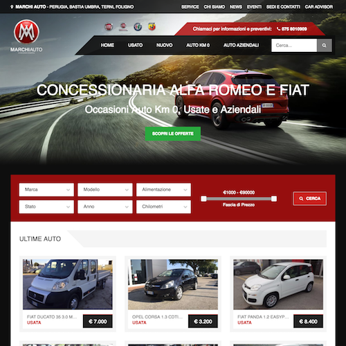 Home Page of the Website - Completely Responsive and made with Bootstrap