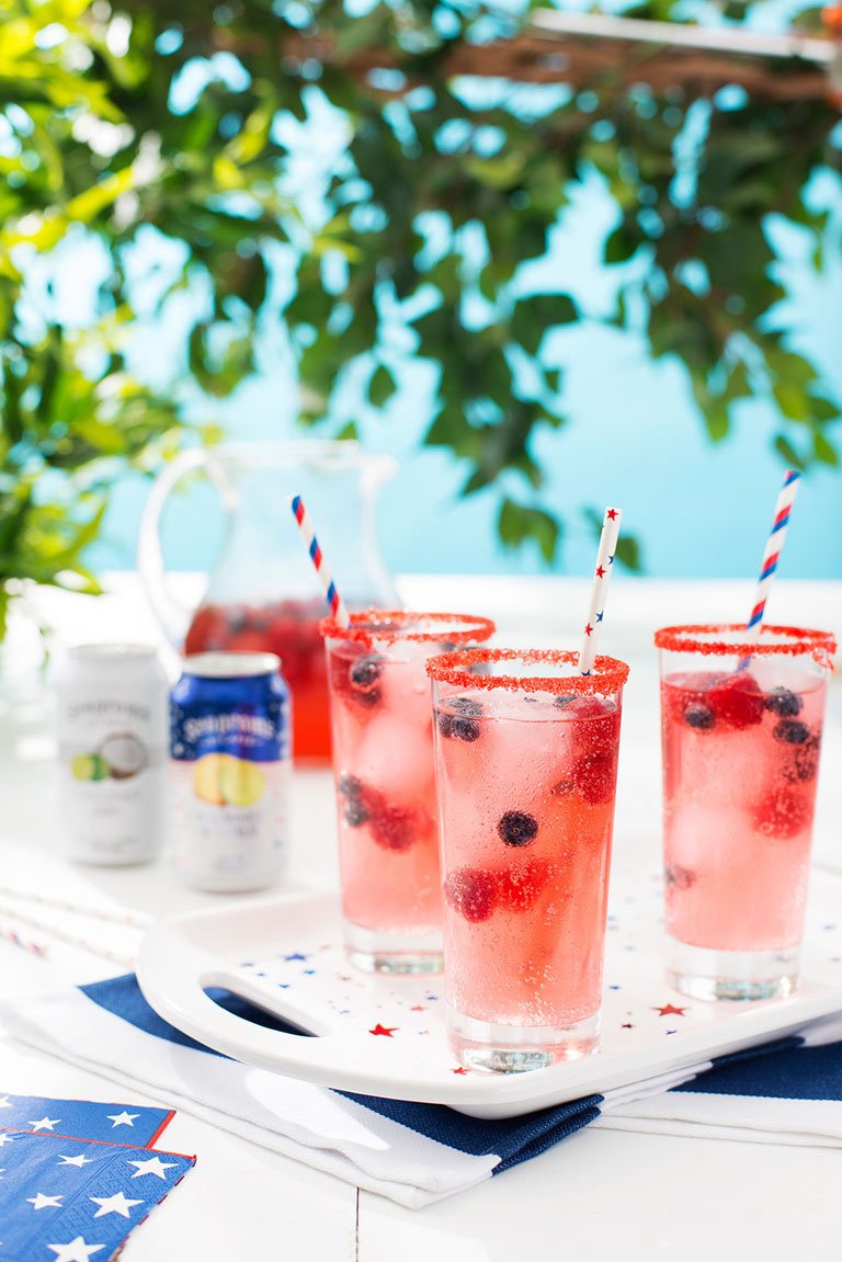 Red, White and Blueberry Citrus Punch Image