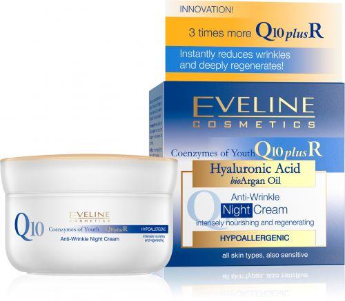 EVELINE Q10+R ránctalanító éjszakai arckrém minden bőrtipusra 50 ml
