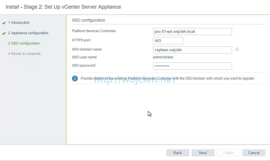 vCenter Server Appliance 6.5 with External Platform Services Controller - 32