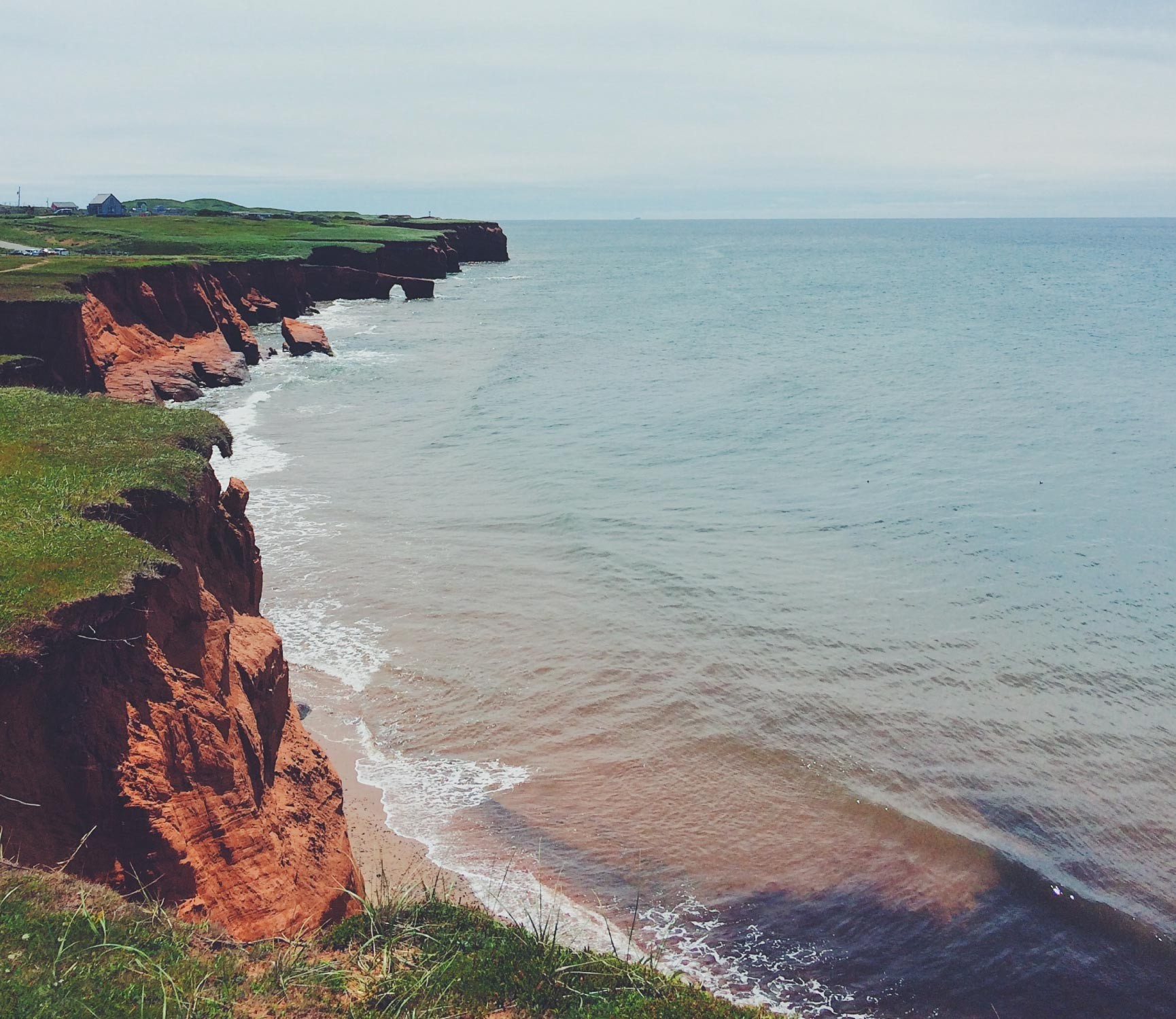 The coast of the Magdalen Islands of Quebec