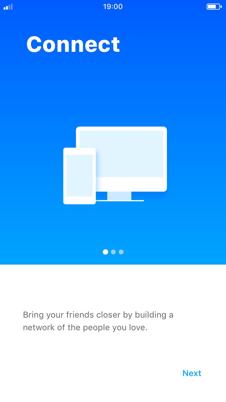 Fiber UI Kit: onboarding screen