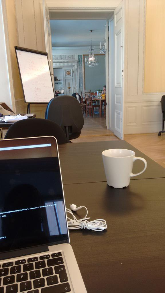 Co-working from inside a castle
