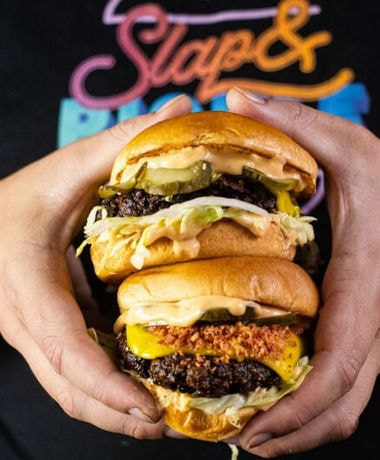 Slap and Pickle burger