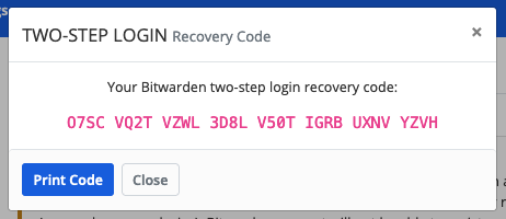 Example Recovery Code
