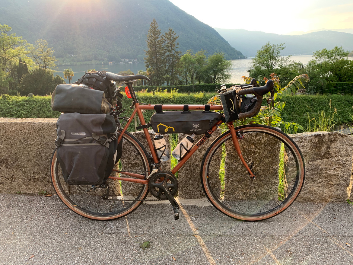 Lovely new WTB tyres on, all up in the alps