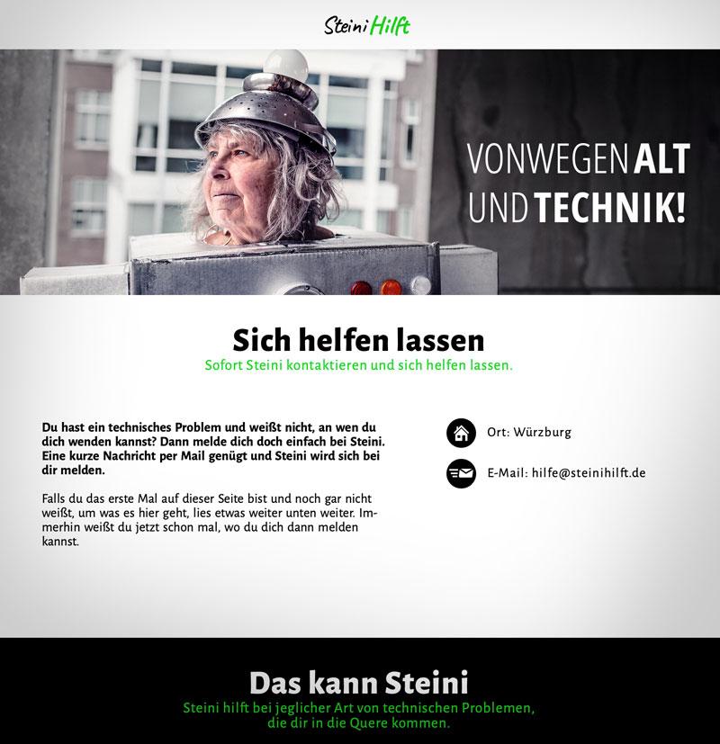 Hier geht es mit einem Klick zu SteiniHilft. Florian Steiniger hilft hier älteren Menschen, die Probleme mit der heutigen Technik haben.