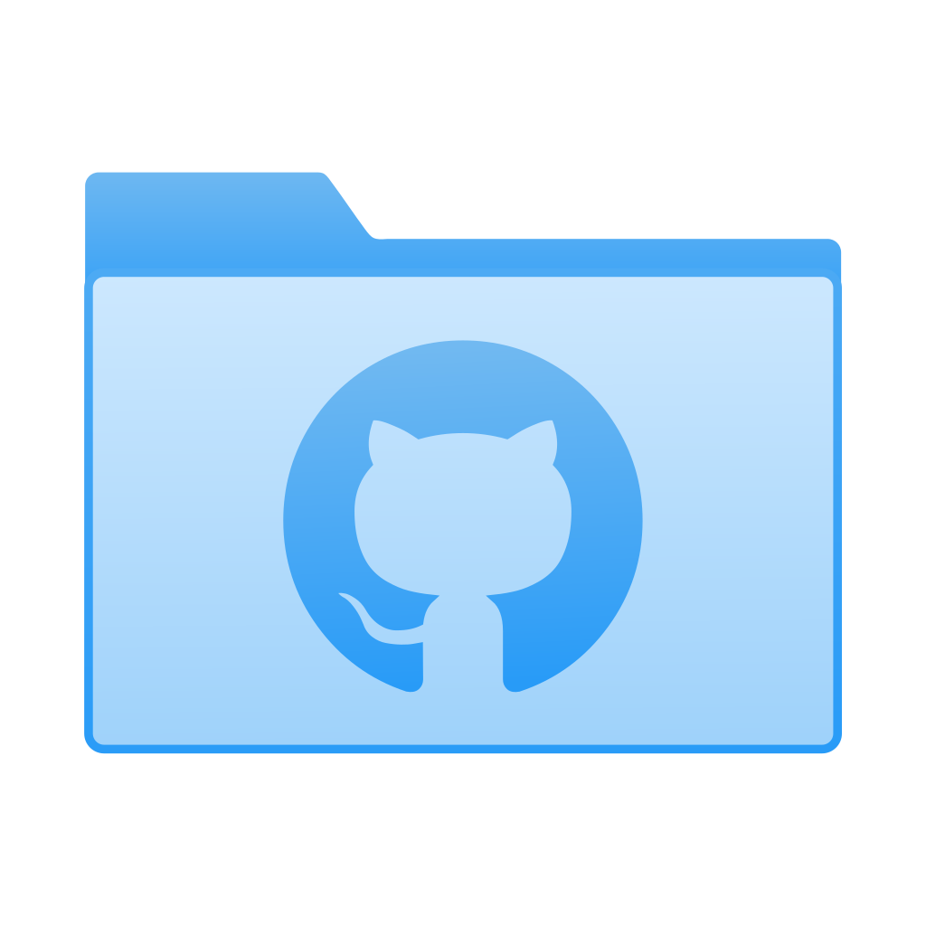 Folder with GitHub icon