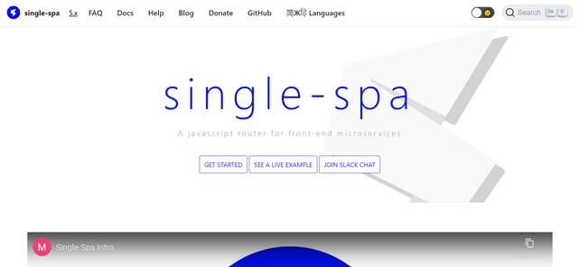 single-spa
