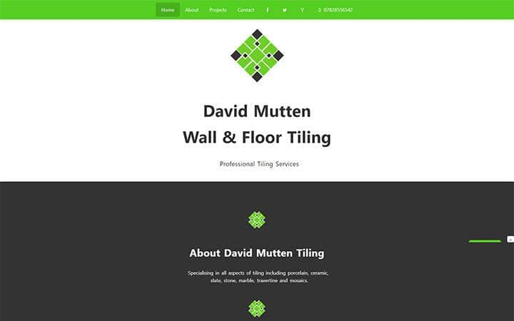 David Mutten Tiling website frontpage
