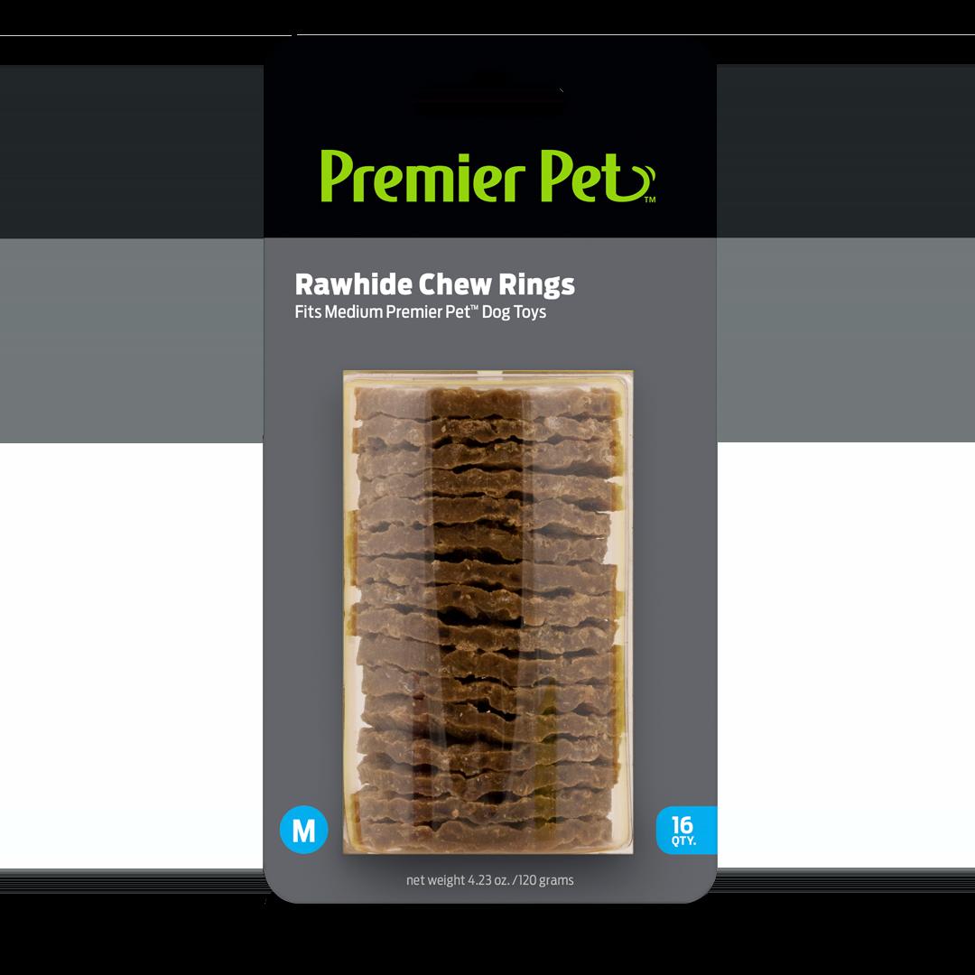 Rawhide Chew Ring Refills - Medium, Pack of 16