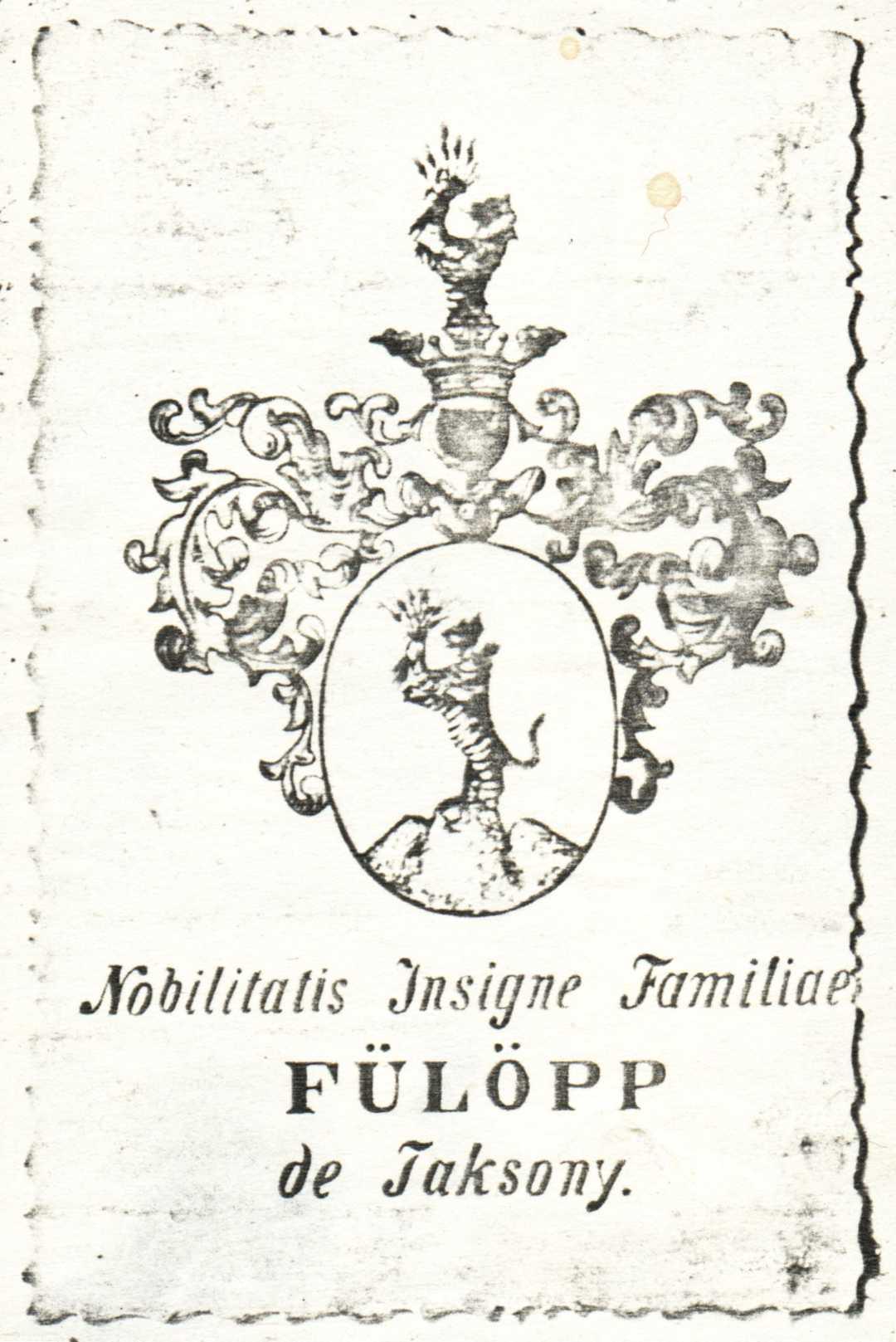 Fülöpp de Taksony coat of arms