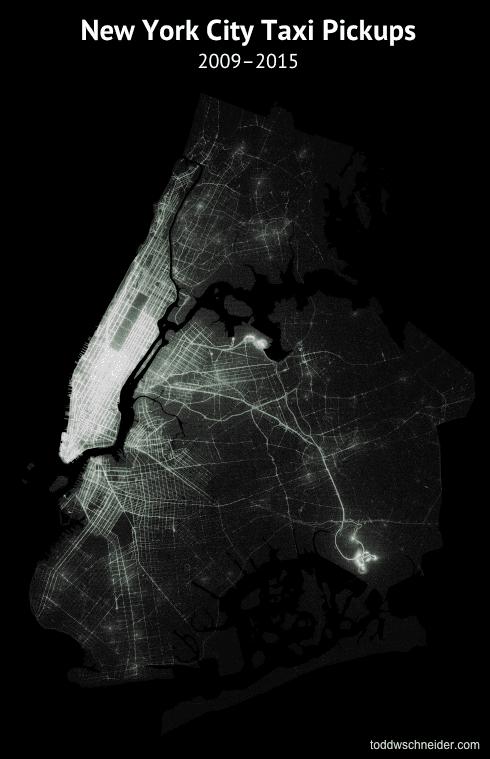 taxi taxi pickups map