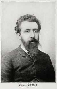 A photo of Georges Seurat (1859-1891), taken in ca. 1888