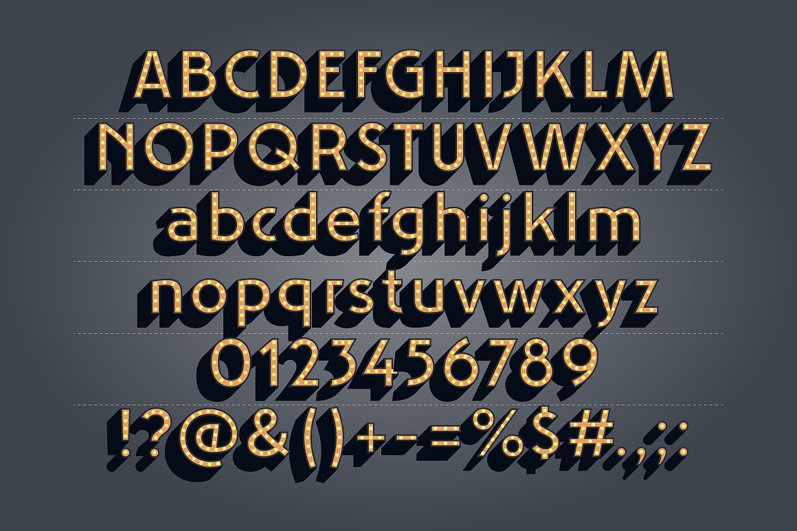 Art Noova Flat Typefaces images/2_promo-dark_3.jpg