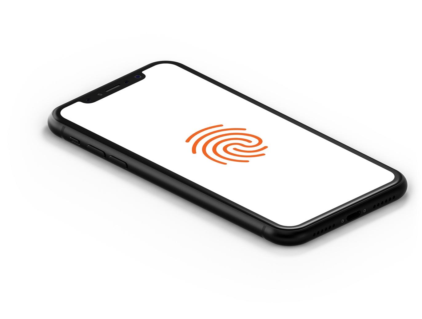 Screenshot of Paga mobile app fingerprint authentication capabilities