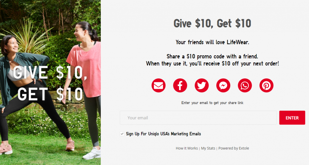 Uniqlo referral program