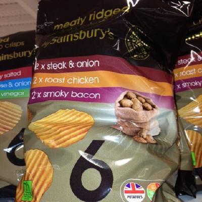Sainsburys Meaty Ridges crisps
