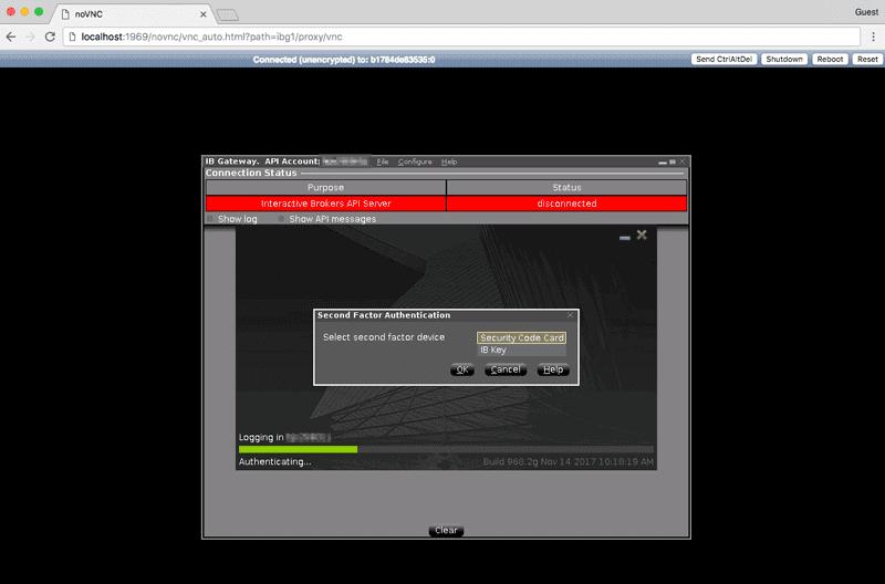 IB Gateway VNC screenshot