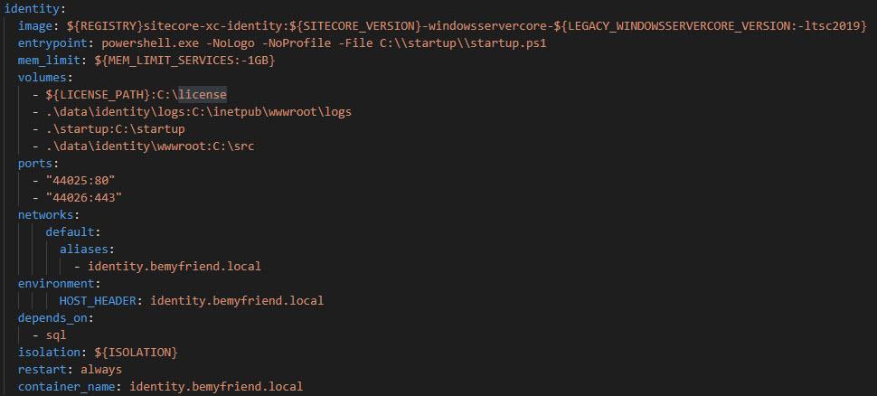 Identity Docker Compose