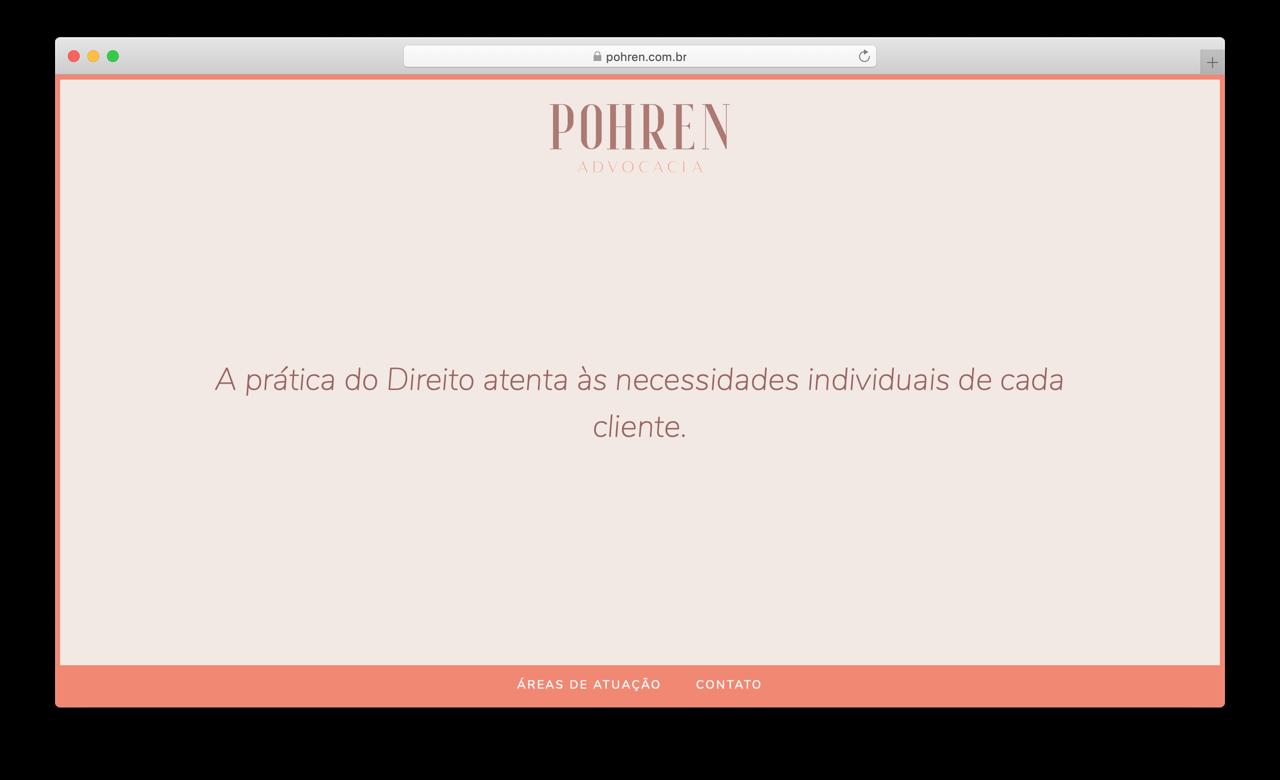 Captura de tela do site Pohren Advocacia