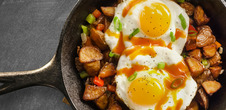 Sunny Side Eggs & Breakfast Potatoes