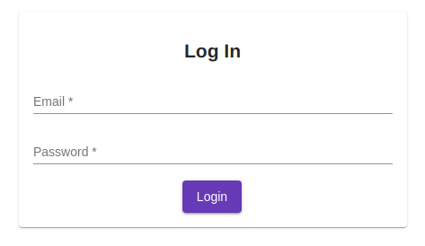Angular Material Login