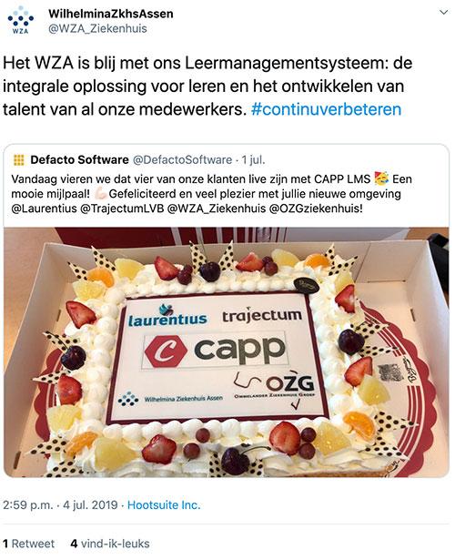 Tweet van Wilhemina Ziekenhuis Assen
