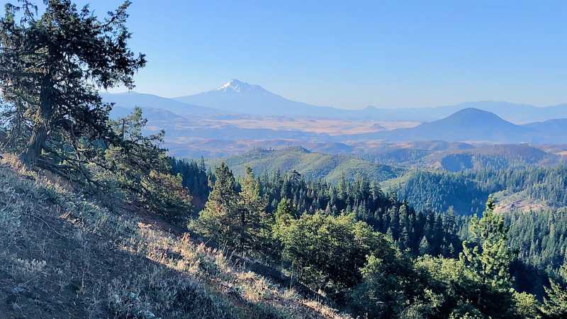 A view toward California and Mt. Shasta