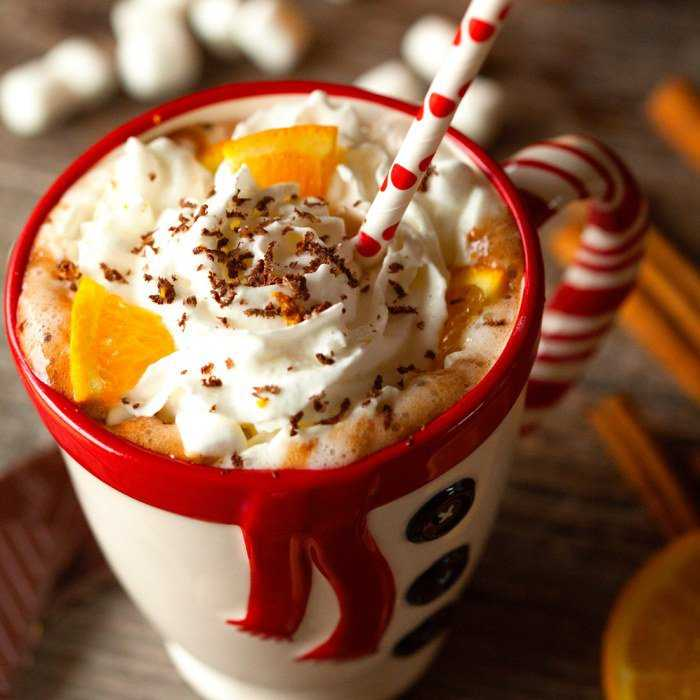 Orange Scented Hot Chocolate Cocktail