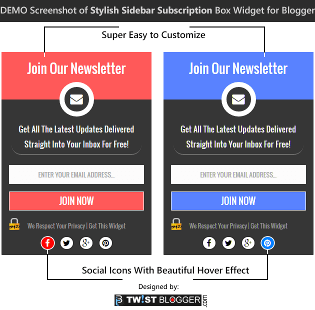 Demo-Stylish-Sidebar-Subscription-Box-Widget-For-Blogger
