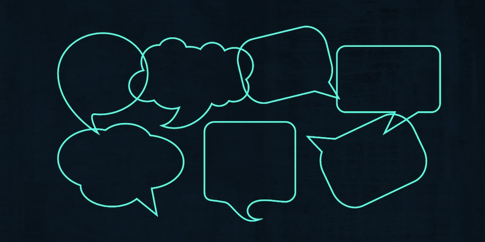 Illustration of an assortment of speech clouds