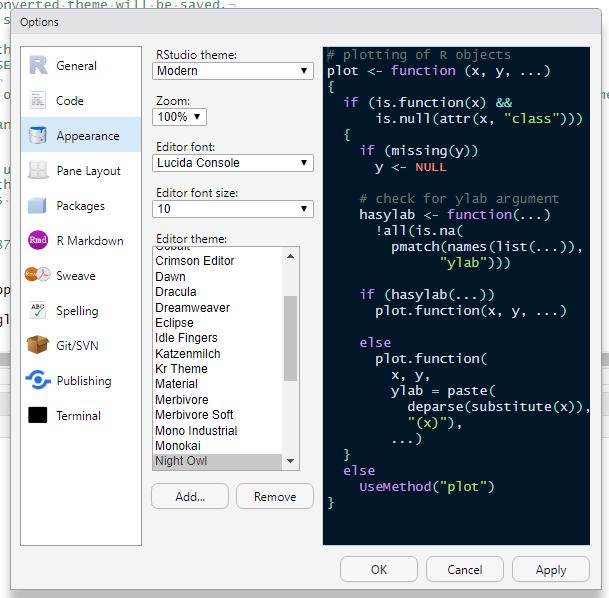 RStudio IDE Custom Theme Support   RStudio Blog