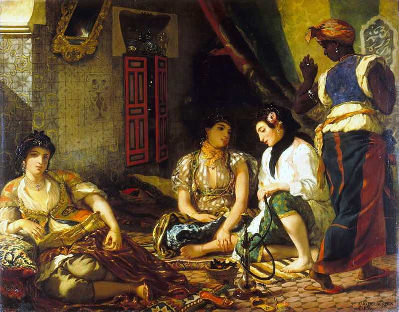 Women of Algiers in their Apartment, by Eugene Delacroix in 1834, Louvre