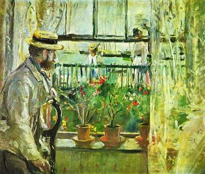 'Eugène Manet on the Isle of Wight' painted by Berthe Morisot in 1875, Musée Marmottan Monet