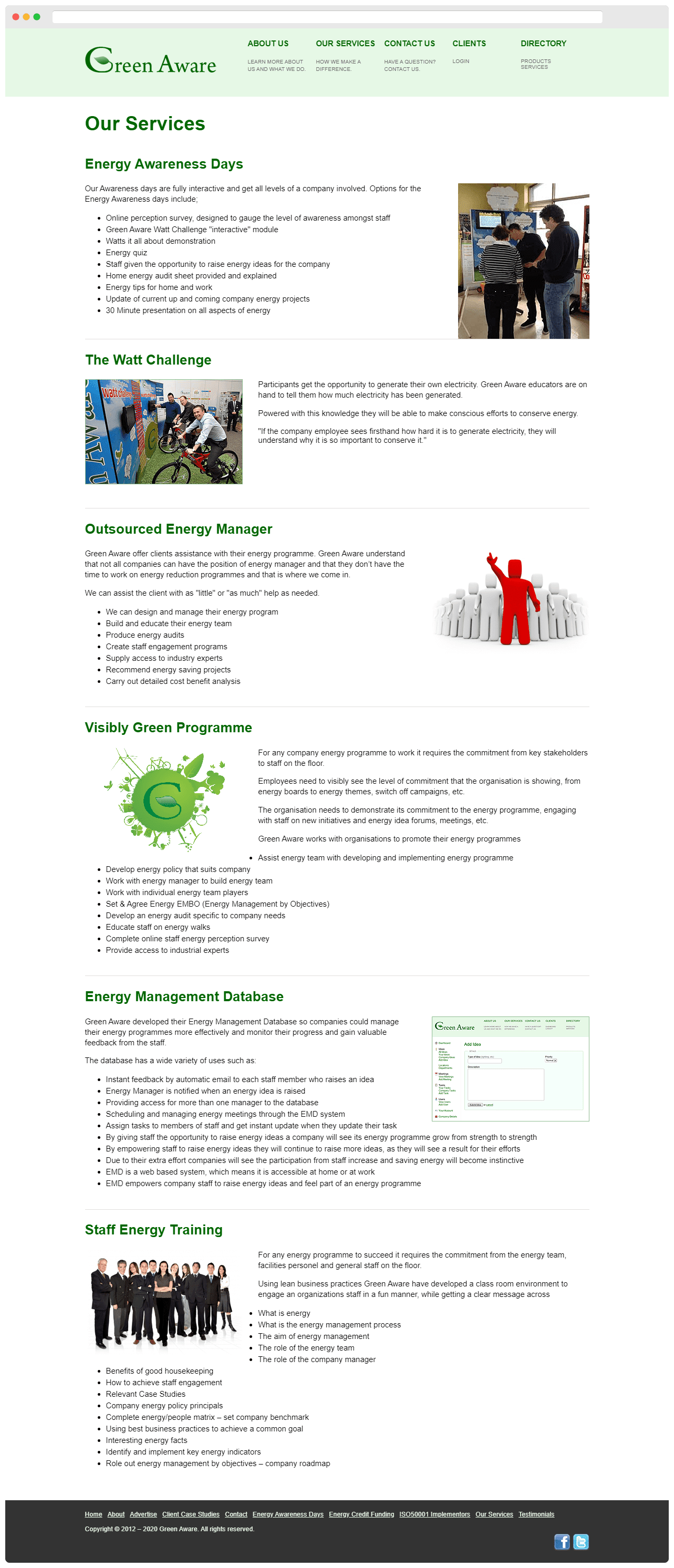 Green Aware Our Services Page