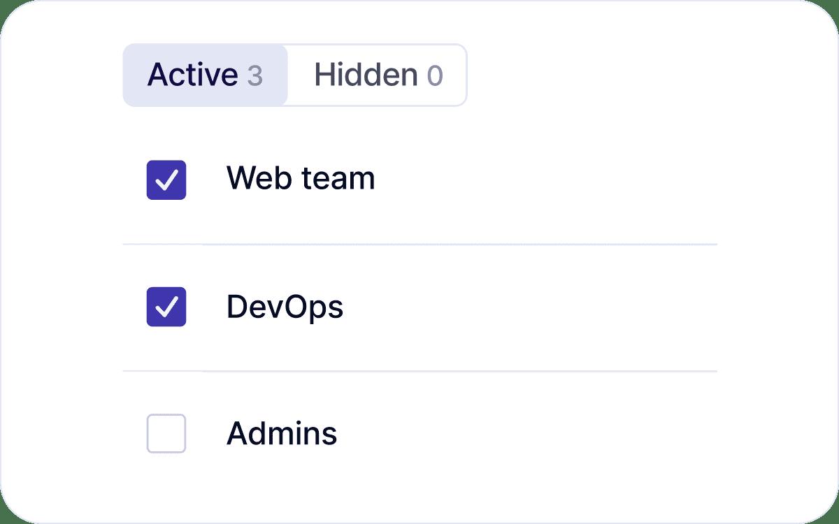 Choose GitHub teams to show in Swarmia