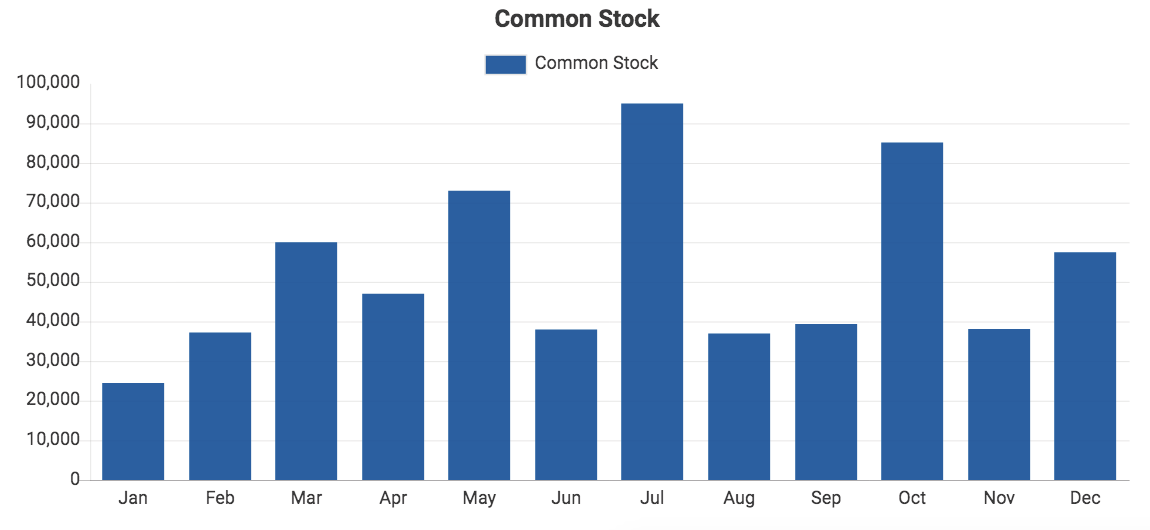 Custom QuickBooks chart showing Common Stock