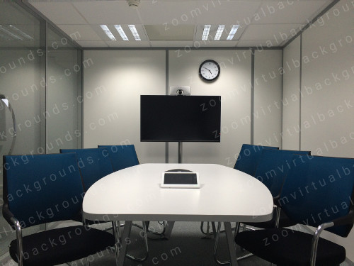 Interior Boardroom Virtual Background for Zoom with glass partition