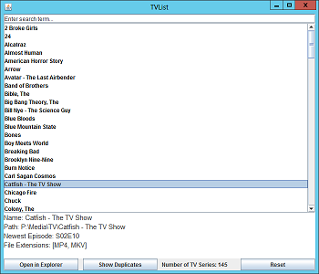 TVList screenshot