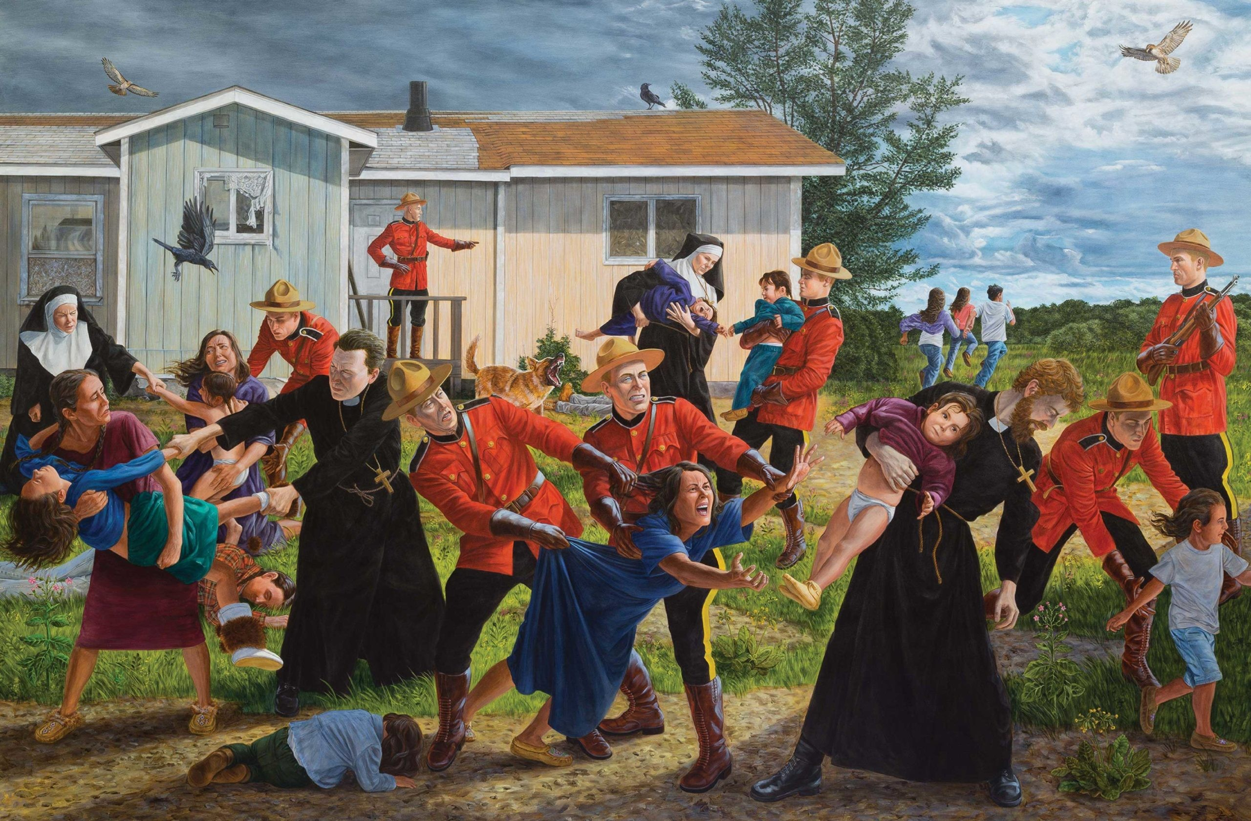 """""""The Scream"""", a painting by Cree artist Kent Monkman, depicts the history of Canada's residential school system and the despair it created"""