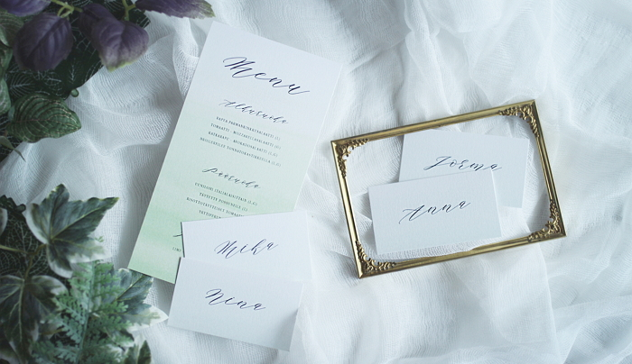 minimalist menu & place cards, pre-designed collection item thumbnail