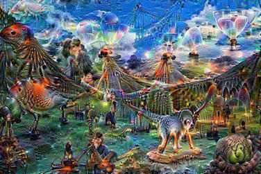 deepdream weird animals