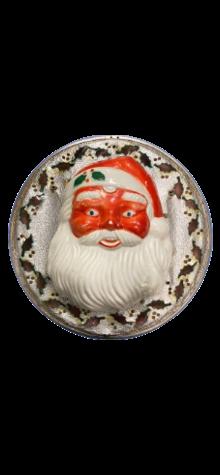 Outdoor Santa Face Wreath photo