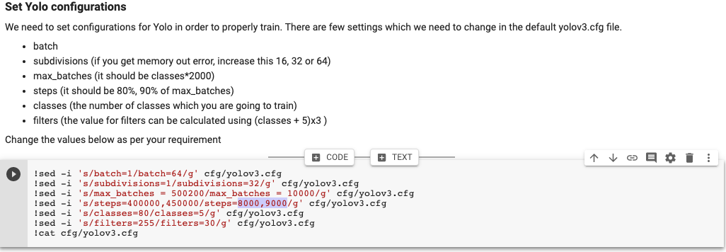 yolo config to change