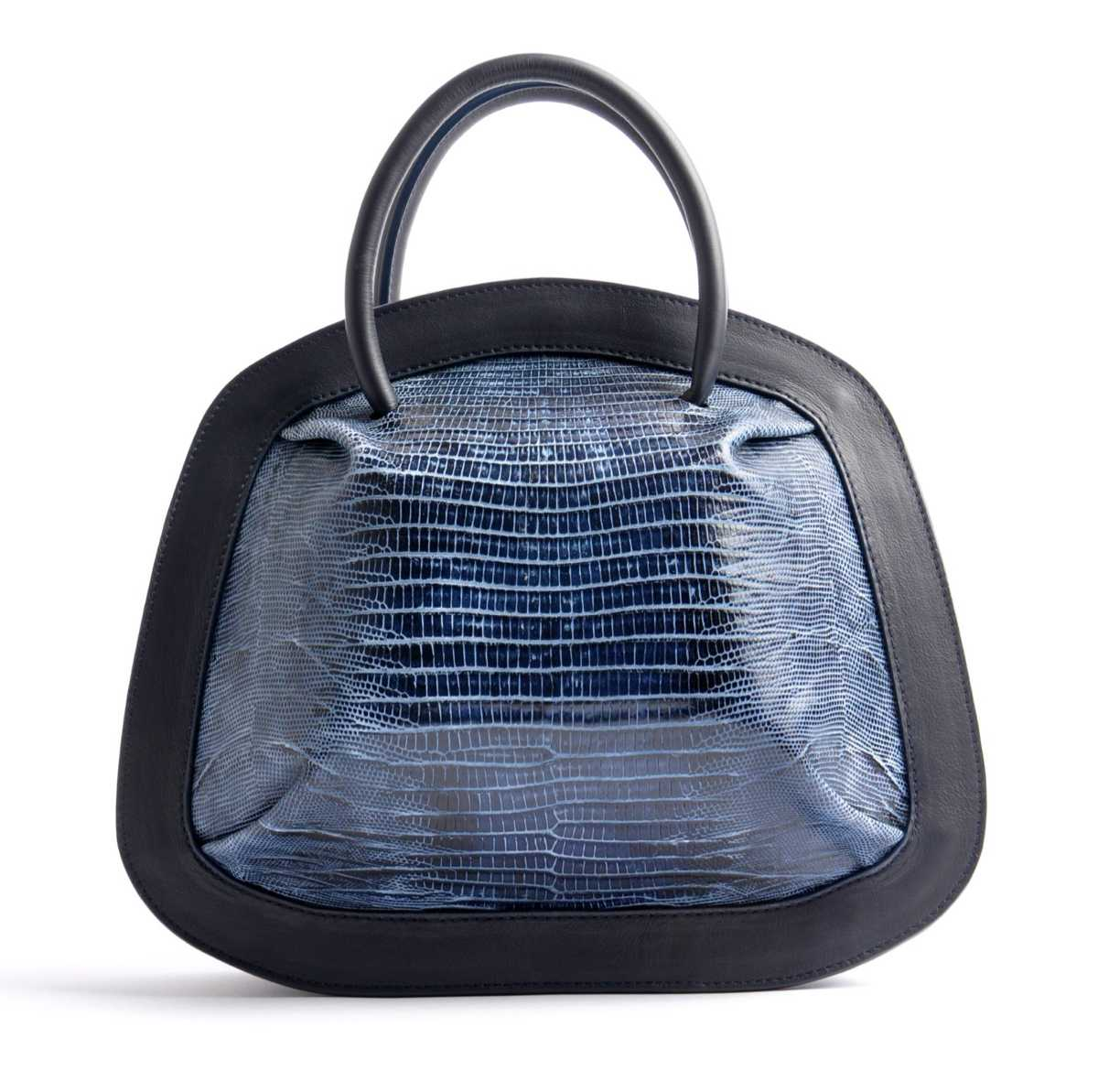 BUBBLE Tote – blue lizzard