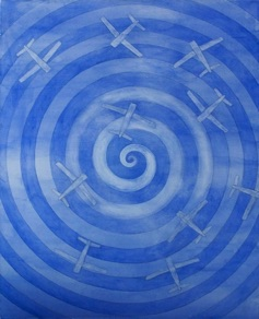 "Joey Reboredo, Italy. ""Confused Planes in Danger Zone"" 2009. canvas, acrylic, 80x100cm"